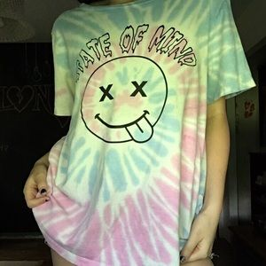 tie-dye state of mind shirt